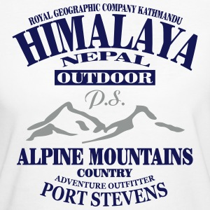 Himalaya  - Alpine Mountains T-shirts - Ekologisk T-shirt dam
