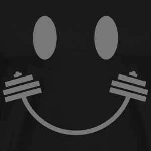 Happy Gym Smiley T-shirts - Mannen Premium T-shirt