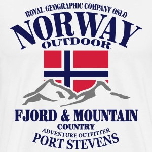 Norway - Fjord & Mountain T-shirts - Herre premium T-shirt