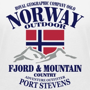 Norway - Fjord & Mountain T-shirts - T-shirt med v-ringning dam