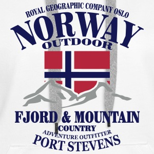 Norway - Fjord & Mountain Gensere - Premium hettegenser for kvinner