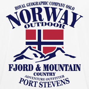 Norway - Fjord & Mountain T-shirts - Herre T-shirt svedtransporterende