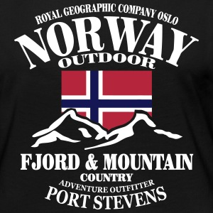 Norway - Fjord & Mountain Manches longues - T-shirt manches longues Premium Femme