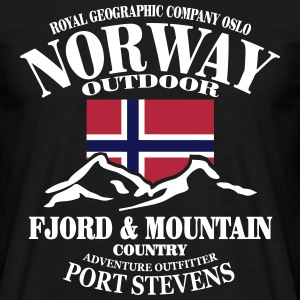 Norway - Fjord & Mountain T-shirts - Herre-T-shirt