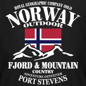 Norway - Fjord & Mountain T-shirts - Mannen Bio-T-shirt