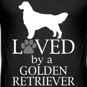 Loved Golden Retriever Magliette - Maglietta aderente da uomo