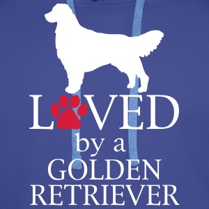 Loved Golden Retriever Felpe - Felpa con cappuccio premium da uomo