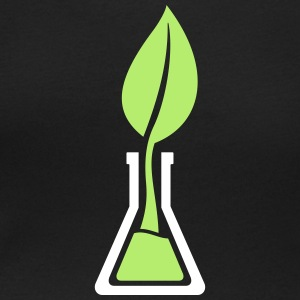 Test tube leaf T-Shirts - Women's Scoop Neck T-Shirt