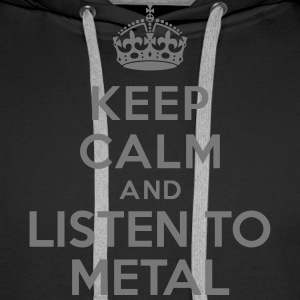 Keep calm and listen to Metal Sweat-shirts - Sweat-shirt à capuche Premium pour hommes