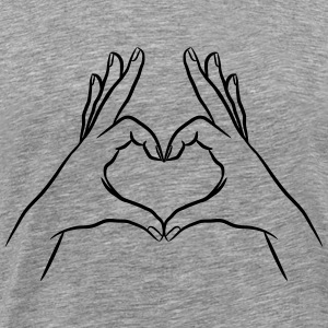 hands Heart T-Shirts - Men's Premium T-Shirt