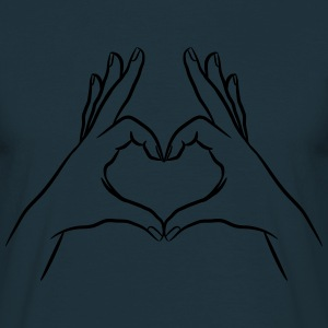 hands Heart T-Shirts - Men's T-Shirt