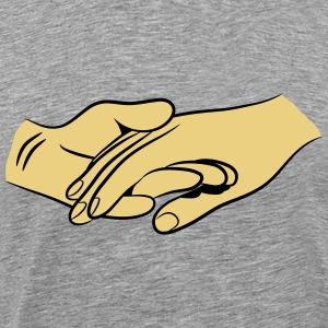 Hands together faithful love T-Shirts - Men's Premium T-Shirt