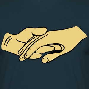 Hands together faithful love T-Shirts - Men's T-Shirt