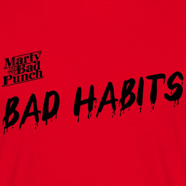 Mens Bad Habits Shirt with Logo
