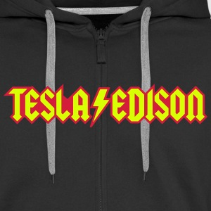Tesla / Edison - AC / DC Hoodies & Sweatshirts - Men's Premium Hooded Jacket