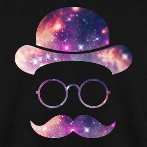 Retro Face with Moustache & Glasses / Universe  Hoodies & Sweatshirts - Men's Sweatshirt
