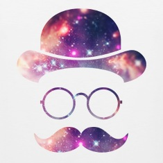 Retro Face with Moustache & Glasses / Universe  Tank Tops