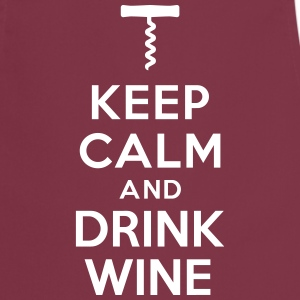 Keep calm drink wine Tabliers - Tablier de cuisine
