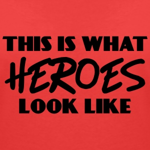 This is what heroes look like T-shirts - T-shirt med v-ringning dam
