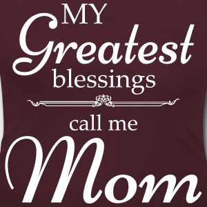 My Greatest blessing call me Mom T-Shirts - Women's Scoop Neck T-Shirt