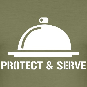 Protect and Serve - Tee shirt près du corps Homme