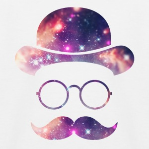 Retro Face with Moustache & Glasses / Universe  Shirts - Kids' Baseball T-Shirt