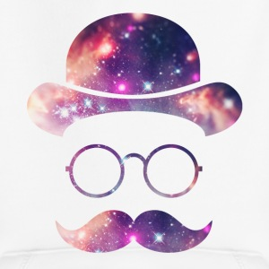 Retro Face with Moustache & Glasses / Universe  Hoodies - Kids' Premium Hoodie