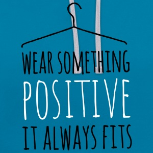 wear something positives coole liebe statement Pullover & Hoodies - Kontrast-Hoodie