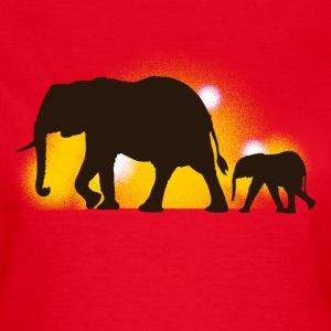 elephants T-shirts - Vrouwen T-shirt