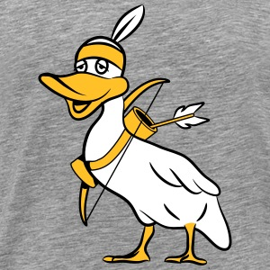Duck indiske bue pil T-shirts - Herre premium T-shirt