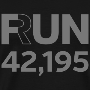 Fun / Run 24,196 (Marathon Distance) T-skjorter - Premium T-skjorte for menn