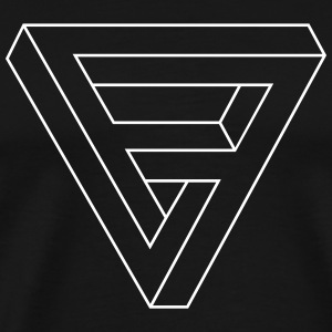 Optical Illusion - Impossible figure - Triangle T-Shirts - Männer Premium T-Shirt