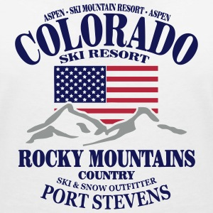 Colorado Ski Resort - United States T-Shirts - Women's V-Neck T-Shirt