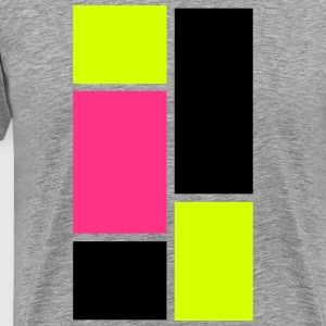 3 Colors 5 Squares T-Shirts - Men's Premium T-Shirt