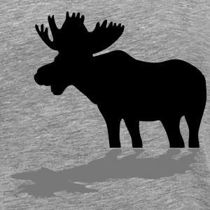 moose - elk - hunting - hunter T-Shirts - Men's Premium T-Shirt