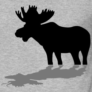 elg - moose - elk - hunting - hunter T-skjorter - Slim Fit T-skjorte for menn