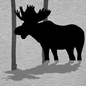 moose - elk - hunting - hunter Hoodies & Sweatshirts - Men's Premium Hoodie