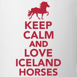 Keep calm and love Iceland horse Tassen & Zubehör - Tasse