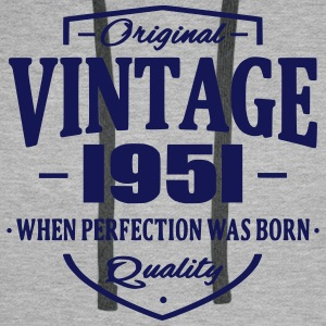 Vintage 1951 Sweat-shirts - Sweat-shirt à capuche Premium pour hommes