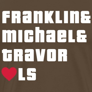 Franklin, Michael and Travor love LS T-Shirts - Men's Premium T-Shirt