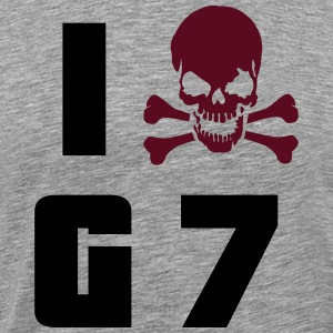 I hate G7 Skull T-Shirts - Men's Premium T-Shirt