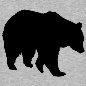 bear - brown bear - hunting - hunter T-Shirts - Men's Slim Fit T-Shirt