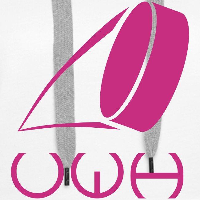 UWH Logo. Womens Hoodie - (LogoPink - frt/lg)