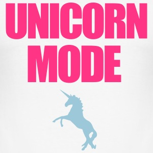 Unicorn Mode T-Shirts - Männer Slim Fit T-Shirt
