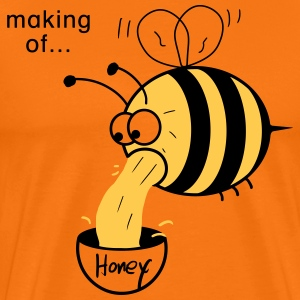 Making of Honey :-) Bee T-Shirts - Men's Premium T-Shirt