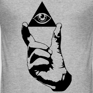 hipster eye  T-Shirts - Men's Slim Fit T-Shirt