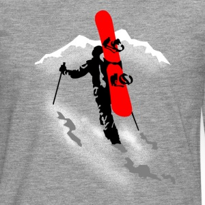 freerider snowboard Manches longues - T-shirt manches longues Premium Homme