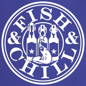 fish & chill (1c)  Aprons - Cooking Apron