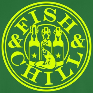 fish & chill (1c) T-Shirts - Men's Football Jersey