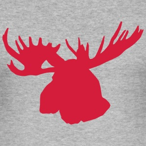 moose - elk - hunting - hunter - canada T-Shirts - Men's Slim Fit T-Shirt